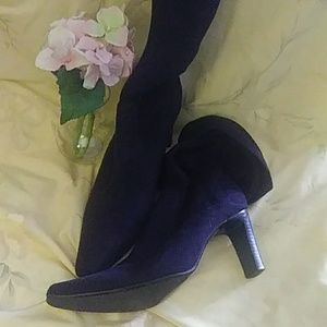 🍇 Purple suede strech boots
